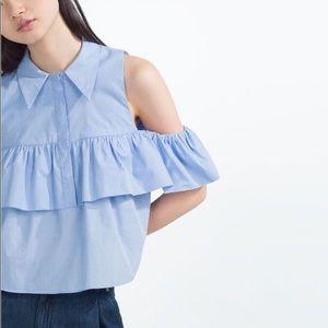 Zara Tops - Zara Cold-Shoulder Top